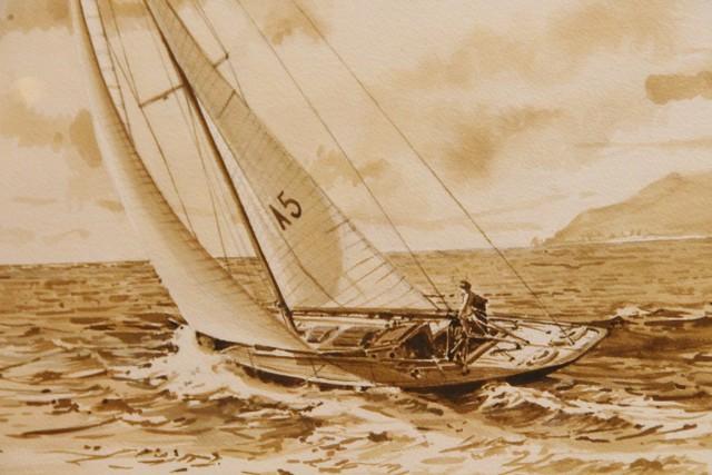 Gometra 1925 acquerello E. Tenti Foto Maccione