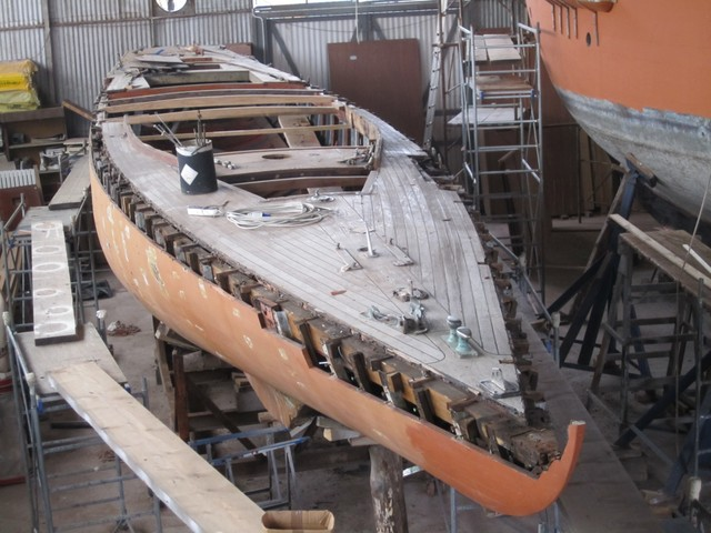 Marga 1910 ai restauri alla Tecnomar di Fiumicino