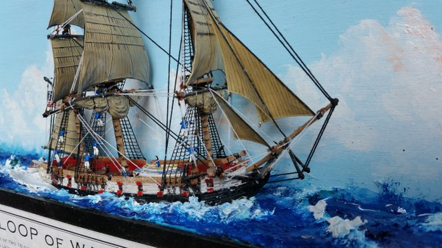 Shadowbox Sloop of War WASP 1807 3