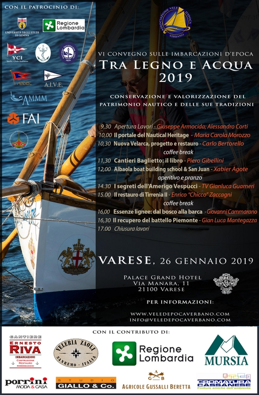 Varese, 26 gennaio 2019, il Vespucci al Convegno di barche d\'epoca